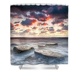 Boiling Sea Shower Curtain by Evgeni Dinev