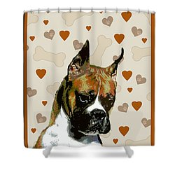 Boxer Shower Curtain by One Rude Dawg Orcutt