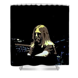 Shower Curtain featuring the photograph Brent Mydland Of The Grateful Dead by Susan Carella