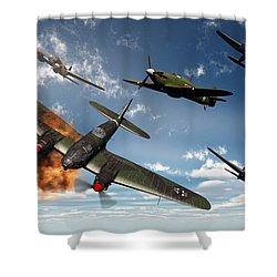 British Hawker Hurricane Aircraft Shower Curtain by Mark Stevenson