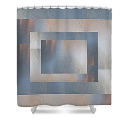 Brushed 19 Shower Curtain by Tim Allen