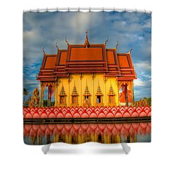 Buddha Temple  Shower Curtain by Adrian Evans