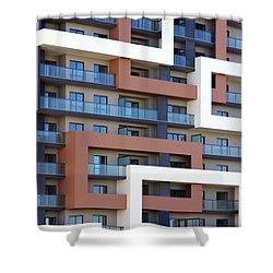 Building Facade Shower Curtain by Carlos Caetano