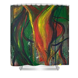 Butterfly Caught Shower Curtain by Sheridan Furrer