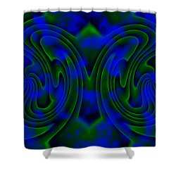Butterfly Shower Curtain by Christopher Gaston