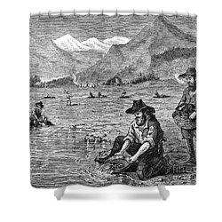 California Gold Rush Shower Curtain by Granger