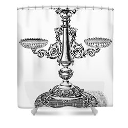 Candelabra Shower Curtain by Granger