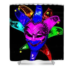 Shower Curtain featuring the digital art Carnival Mask by Blair Stuart