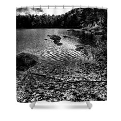 Cary Lake After The Storm Shower Curtain by David Patterson