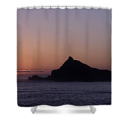Shower Curtain featuring the photograph Castle Rock Sunset by Betty Depee
