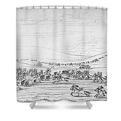 Catlin: Buffalo Hunt Shower Curtain by Granger