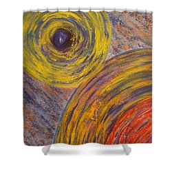 Centrifugal Whirls Shower Curtain