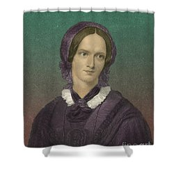 Charlotte Bronte, English Author Shower Curtain by Photo Researchers