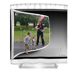 Shower Curtain featuring the photograph Chasing Bubbles by Brian Wallace