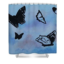Chasing Butterflies Shower Curtain