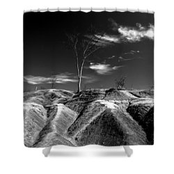 Cheltenham Badlands Shower Curtain by Cale Best
