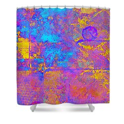 Chemiluminescence Shower Curtain by Christopher Gaston