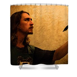 Chivalry Shower Curtain by Christopher Gaston