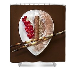 Chocolate Praline Shower Curtain by Joana Kruse