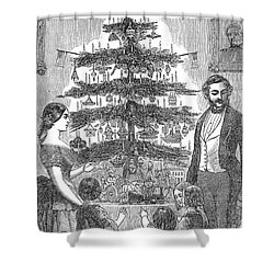 Christmas Tree, 1864 Shower Curtain by Granger