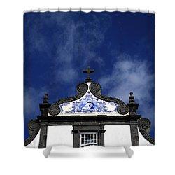Church In Azores Islands Shower Curtain by Gaspar Avila
