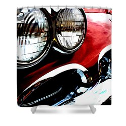 Shower Curtain featuring the digital art Classic Vette by Tony Cooper