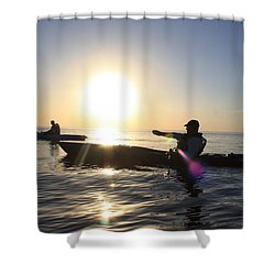 Coasting On Waters Light Shower Curtain