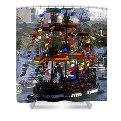 Colors Of Gasparilla Shower Curtain by David Lee Thompson
