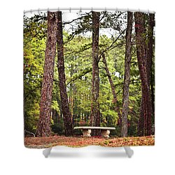 Come Sit A Spell Shower Curtain by Kim Henderson