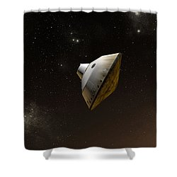 Concept Of Nasas Mars Science Shower Curtain by Stocktrek Images