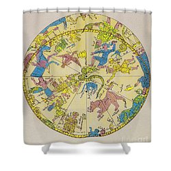 Constellations Shower Curtain by Science Source