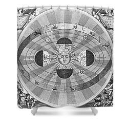 Copernican World System, 17th Century Shower Curtain by Science Source