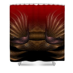 Crab Shower Curtain by Christopher Gaston