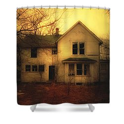 Creepy Abandoned House Shower Curtain by Jill Battaglia