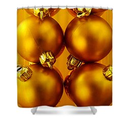 Crhistmas Decorations Shower Curtain by Carlos Caetano