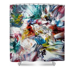 Crystal Layers Shower Curtain by Kathy Sheeran
