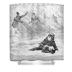 Dakota Blizzard, 1888 Shower Curtain by Granger
