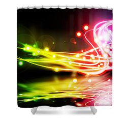 Dancing Lights Shower Curtain by Setsiri Silapasuwanchai