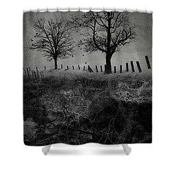 Dark Roost Shower Curtain by Ron Jones