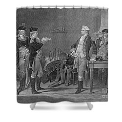 Death Warrant Of Major John Andre, 1780 Shower Curtain by Photo Researchers