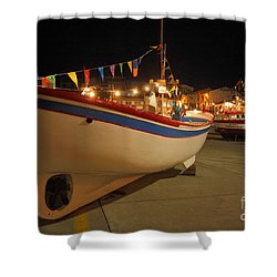 Decorated Fishing Boats Shower Curtain by Gaspar Avila