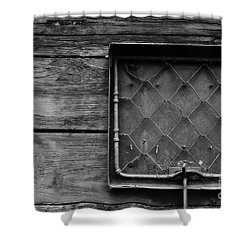 Destination Box Shower Curtain