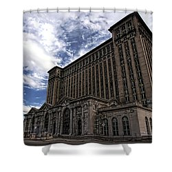 Detroit's Abandoned Michigan Central Station Shower Curtain by Gordon Dean II