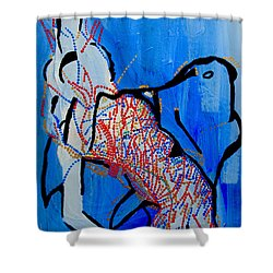 Dinka Corset - Manlual - South Sudan Shower Curtain by Gloria Ssali