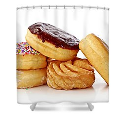 Donuts Shower Curtain by Elena Elisseeva