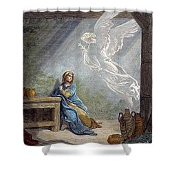 Dor�: The Annunciation Shower Curtain by Granger