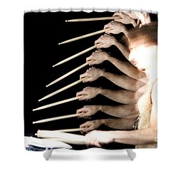 Drummer Shower Curtain by Ted Kinsman