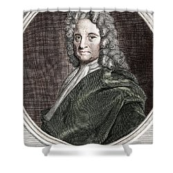 Edmond Halley, English Polymath Shower Curtain by Science Source