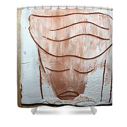Ella - Tile Shower Curtain by Gloria Ssali