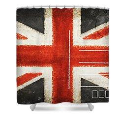 England Flag Postcard Shower Curtain by Setsiri Silapasuwanchai